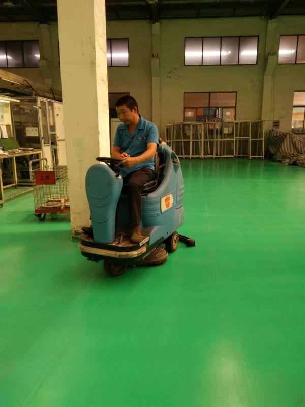 南京汽配厂正在使用哥拜耳水性矿物地坪涂料